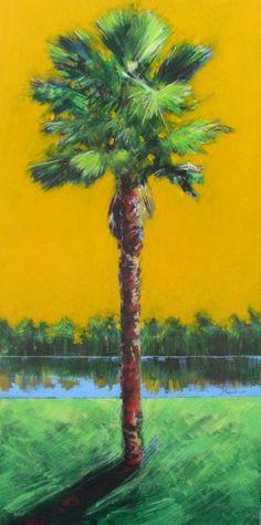 "Jim Draper ""Palm"" Art, Painting, Design, Stellers Gallery of San Marco"