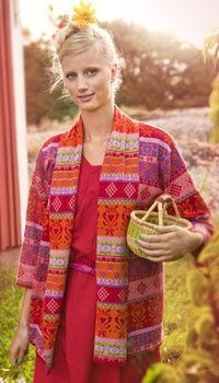 Love a designer who isn't afraid of color. Gudrun Sjoden.