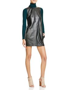 Vince Leather Shift Dress - Bloomingdale's Exclusive