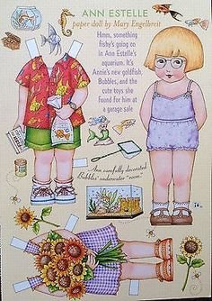 MARY ENGELBREIT Mag. Paper Doll, Ann Estelle, Aug/Sep 2002, Uncut