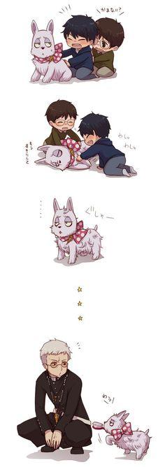 Mephisto, Rin, Yukio and Shiro!