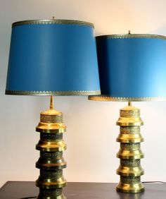 Mid Century Table Lamps  Retro  Vintage Lamps by GooseberryVintage, $325.00