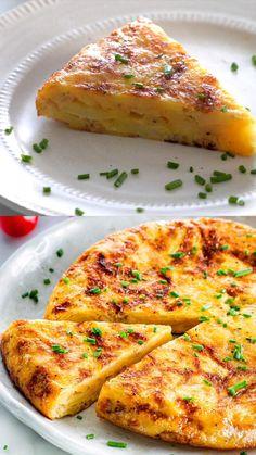 Best Breakfast Recipes, Brunch Recipes, Vegetarian Snacks, Spanish Omelette, Food Dishes, Food Food, Indian Food Recipes, Food Videos, Cooking Recipes
