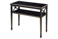 Jireh Console Table, Black/Gold
