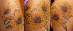 Sunflower tattoo. i want this on my lower right side of my back. kind of inching over onto my hip. The sunflower represents optimism: always turning to the sun and leaving the shadows behind them. The sunflower will grow to face the source of the sun, which is who i want to be; an optimistic person who will always search for the light! The mythology behind the sunflower is beautiful. this is a natural beauty and represents the person i want to be. def my next tattoo!