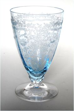Fostoria Glass Azure Blue June Water LuncheonTumbler. Love Love Love this glass & would deff have a set in my house on a fancy dining table.