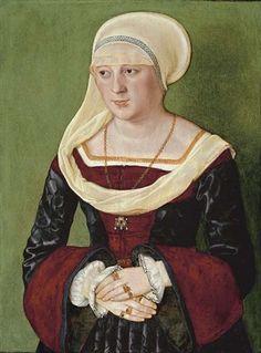 Portrait of Anna Scheit, nee Mem(m)inger  Beham, Barthel (painter) 1528  Held at the http://www.fitzmuseum.cam.ac.uk