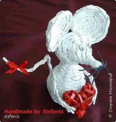 Мастер-класс Поделка изделие Плетение моя мышка + М К Бумага газетная Трубочки бумажные фото 1