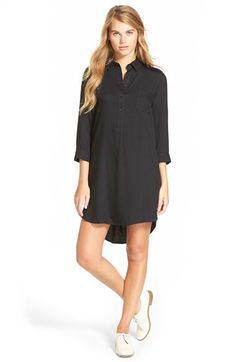 Free shipping and returns on One Clothing Three-Quarter-Sleeve Shirtdress at Nordstrom.com. A relaxed fit and abbreviated sleeves give this shirtdress just the right amount of insouciant charm.