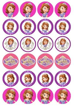 24 x Sofia The First Edible Cupcake Toppers Pre-Cut in Home & Garden, Parties, Occasions, Cake Sofia The First Birthday Cake, Baby 1st Birthday, Toy Story Birthday, Toy Story Party, Princess Sofia Cupcakes, Princess Sofia Birthday, Mickey Mouse Parties, Mickey Mouse Birthday, Tangled Birthday