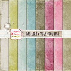 Me Likey You! {solids} - 20% off! :) by Joyful Heart Designs on Creative Market