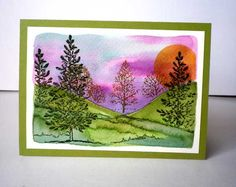 Lovely as a Tree Sunset card by Misstreez