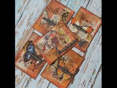 Artist Trading Card Set *Old-Time Travel Post*, Mixed Media (MakaArt) #7 - YouTube