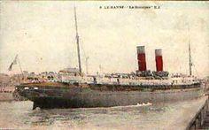"""""""La Gascogne"""" dans le port du Havre (14 ko)"""
