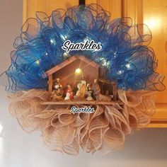 Nativity Wreath Manager Wreath Catholic Christmas Wreath Light Up Wreath Jesus Wreath Nativity decor Jesus decor christmas decor Diy Nativity, Christmas Nativity, Christmas Crafts, Christmas Decorations, Xmas, Christmas Ideas, Merry Christmas, Wreath Boxes, Diy Wreath