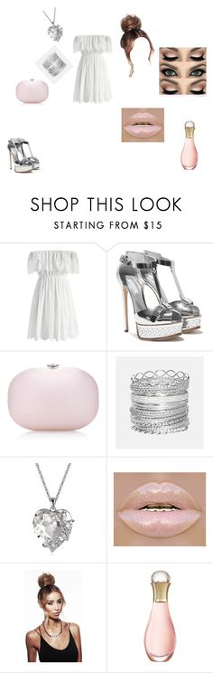 """""""Summer outfit"""" by elenatsr on Polyvore featuring Chicwish, Jeffrey Levinson, Avenue, Christian Dior, white, Pink, dress and lips"""