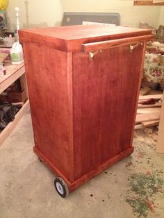 Stained mobile trunk.