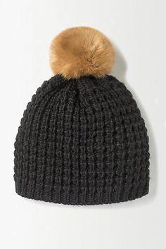 Pom-Pom Knit Beanie