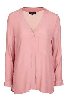 Long Sleeve Slouchy Pocket Shirt