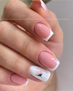 Matte Pink Nails, Rose Gold Nails, Neutral Nails, Subtle Nails, French Tip Nail Designs, Nail Art Designs Videos, French Tip Nails, Manicure Nail Designs, Nail Manicure