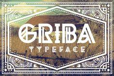 GRIBA Typeface by AgungMaskund on Creative Market