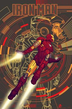 #IronMan variant (glows in the dark!) poster from Mondo! #Avengers