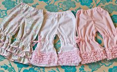 Ruffle Bloomers 5 to choose from by LindaMarieStitchery on Etsy,
