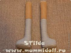 Mimin Dolls: How to prepare for doll leg with shoe