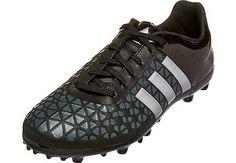 61a90f42e adidas Kids ACE 15.3 FG AG Soccer Cleats - Black and Silver - SoccerPro.com