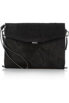 The black Calf hair version of my Wang clutch is now on the Outnet!