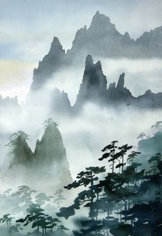Five Things You Should Know About Asian Landscape Painting Asian Landscape, Chinese Landscape Painting, Japanese Landscape, Japanese Painting, Chinese Painting, Watercolor Landscape, Landscape Art, Japanese Art, Landscape Paintings