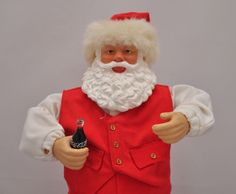 Coca cola #rocking santa claus animated figure #edition 1 #jingle bell rock euc,  View more on the LINK: http://www.zeppy.io/product/gb/2/152070310783/