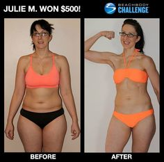 """::05/30/13:: Check out Julie's ABS! Lost 40 lbs w/ #TurboFire in 90 days! --> """"What's the best way to lose 40 lbs. in 3 months, get your self-esteem back, love life once again, and feel incredibly healthy and amazing? (1) Join a #BeachbodyChallengeGroup, (2) do #TurboFire, and (3) drink #Shakeology. Simple, right? Well, actually, it kind of was."""" WHAT ARE YOU WAITING FOR?! CONTACT YOUR BEACHBODY COACH & GET STARTED! ENTER YOUR RESULTS FOR A CHANCE TO WIN!"""