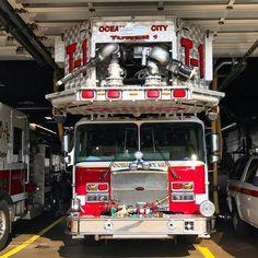 "Gerard Oakley on Instagram: ""Ocean City Maryland Fire Department Tower 1. . ——————————— 🚒 Tower 1 🔥 Ocean City Fire Department 🏫 Ocean City, MD ——————————— #firetruck…"""