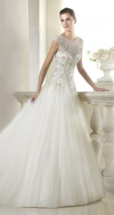 St. Patrick Bridal 2015 Glamour Collection - Belle The Magazine #wedding #weddingdress