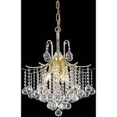 Shop for Somette Crystal 6-light Gold Chandelier. Get free shipping at Overstock.com - Your Online Home Decor Outlet Store! Get 5% in rewards with Club O! - 13902572
