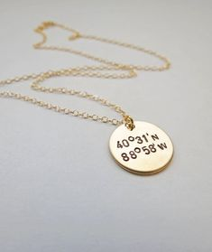Personalized Gold Necklace by JewelryByRMSmith on Etsy, $32.00 Graduation Gift for best friends?
