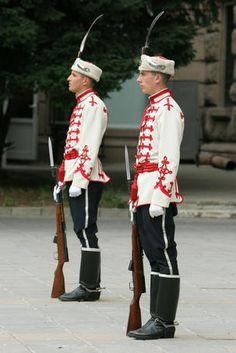 Guards at Presidents Building in central Sofia, Bulgaria