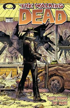 The Walking Dead written by Robert Kirkman, illustrated by Tony Moore and Charlie Adlard
