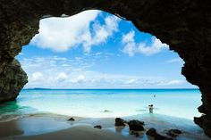 This is Sunayama Beach on Miyako Island, in Okinawa, Japan