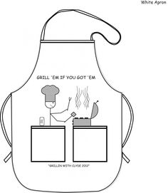 Grilling gets messy, clean it up with an apron from Camp Here Gear!!!