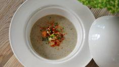Cappucino met champignons en eendenlever   VTM Koken Hummus, Ethnic Recipes, Food, Mushroom, Essen, Yemek, Meals