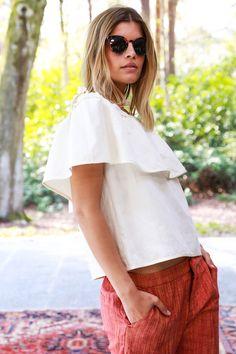 Summer white top l Juttu #Juttu #fashion #women #lookbook #SS17