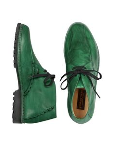 Green Handmade Italian Leather Ankle Boots - The ultimate lightweight shoe with a special rubber sole for an exclusive pair of classic ankle boots as light as a feather. In a rich pine green tone, they assure uncomparable comfort and style. Made in Italy