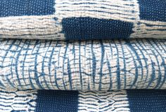 Sally Campbell - Indigo Shibori quilts- living blue for sally campbell- in 2 sizes