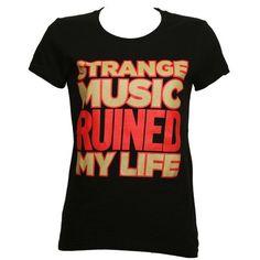 Strange Music - Black Ruined Ladies T-Shirt