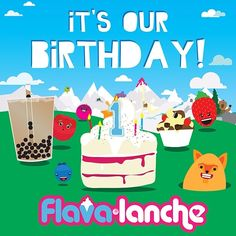 "@Flavalanche Frozen Yogurt's photo: ""Happy birthday to us! Come and celebrate tomorrow - free birthday cake with froyo purchases! #flavalanche #1stbirthday #frozenyogurt #bubbletea #parkstreet #bristol"""