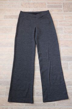 Ibex Izzi Yoga Pants Gray Pewter Heather Womens Medium Stretch Merino Wool Blend #Ibex #PantsTightsLeggings