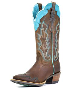 I LOVVVVVEEEEE these boots and want a pair sooo bad!! Ariat Women's Caballera Boot - Weathered Brown