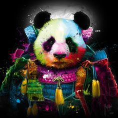 Panda Samurai Canvas Wall Art by Patrice Murciano Abstract Canvas, Oil Painting On Canvas, Murciano Art, Patrice Murciano, Pop Art, Toile Photo, Cute Panda Wallpaper, Hd Wallpaper, Panda Wallpapers